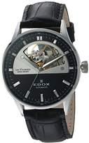 Edox Women's 85019 3N NIN Les Vauberts Analog Display Swiss Automatic Black Watch