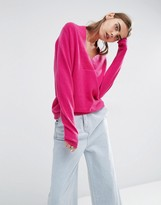Asos 100% Cashmere Deep V-Neck Sweater