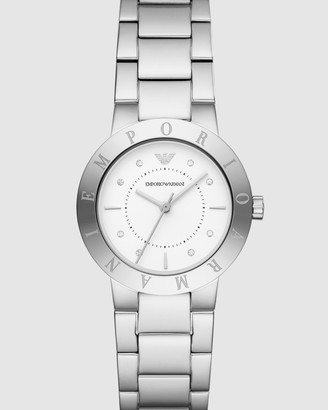 Emporio Armani Silver-Tone Women's Analogue Watch