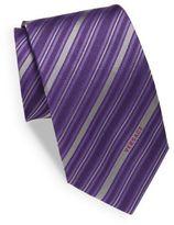 Versace Multi-Tone Striped Silk Tie