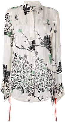 Victoria Victoria Beckham Floral Print Shirt