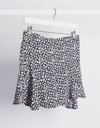 Pimkie mini skirt in black floral print