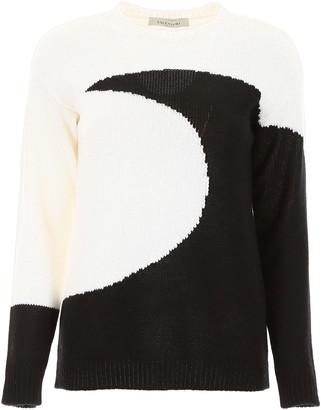 Valentino Moon Intarsia Pullover