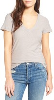James Perse Women's Slub Cotton V-Neck Tee