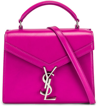 Saint Laurent Mini Cassandra Top Handle Bag in Electric Fuchsia | FWRD