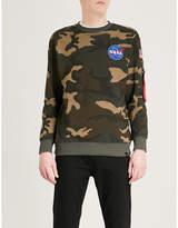 Alpha Industries Appliquéd camo-print cotton-jersey sweatshirt