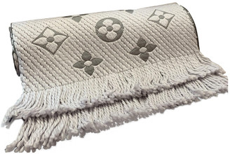 Louis Vuitton Logomania Grey Wool Scarves
