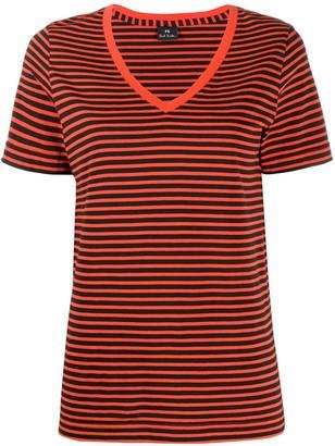 Paul Smith striped V-neck T-shirt