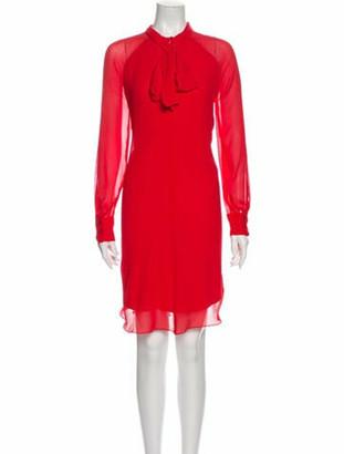 Kenzo Tie Neck Mini Dress Red