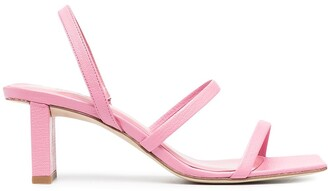 BY FAR Strappy Low Heel Sandals