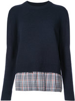 Joseph layered knitted top