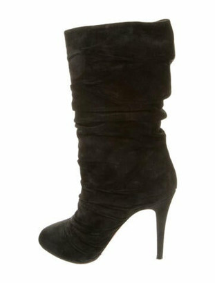 Christian Louboutin Piros Suede Slouch Boots Black