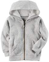 Carter's Boys Brushed Fleece Zip-Up Hoodie;