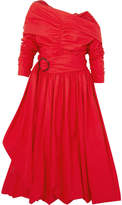 Isa Arfen Bubble Ruched Cotton-poplin Midi Dress