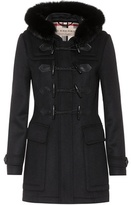 Burberry Blackwell fur-trimmed wool coat