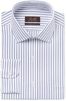 Tasso Elba Men's Classic-Fit Blue and White Striped Dress Shirt, Only at Macy's