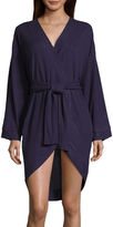 Asstd National Brand Long Sleeve Rayon Robe