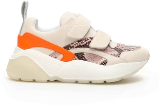 Stella McCartney ECLYPSE SNEAKERS 36 Beige, Orange, Pink Faux leather, Technical