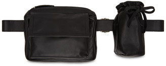 Ann Demeulemeester Black Leather Belt Bag