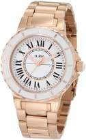 A Line a_line Women's AL-20014 Marina White Dial Rose Gold Ion-Plated Stainless Steel Watch