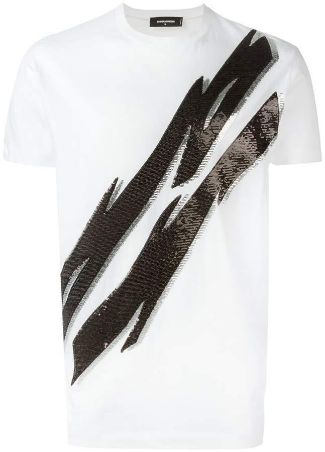 DSQUARED2 Tiger Flash sequinned T-shirt