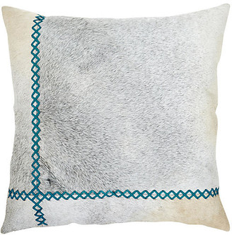 The Piper Collection Windsor 22x22 Pillow - Bondi Blue/Gray