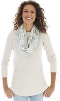 J. Jill Mixed-Rib Boat-Neck Sweater