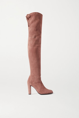 Stuart Weitzman Highland Stretch-suede Over-the-knee Boots - Taupe