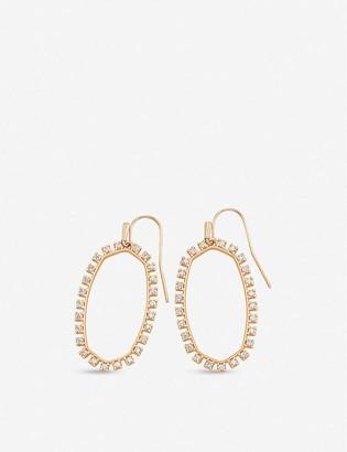 Kendra Scott Elle open frame rose gold-plated earrings
