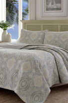 Tommy Bahama Turtle Cove Twin Quilt & Sham 2-Piece Set - Pelican Gray