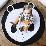Peanutcool Cartoon Creeping Mat Baby Infant Playmat Blanket Play Game Mat Room Decoration Round Crawling Activity Pad Carpet Floor Home Rug Gift (Panda - Black)