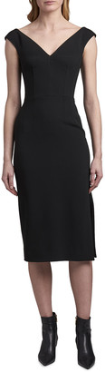 Dolce & Gabbana Wool-Stretch Midi Sheath Dress