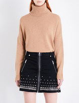 The Kooples Nola stretch-denim skirt