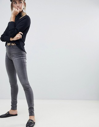 Only high waisted skinny jean in grey
