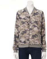 Juniors' About A Girl Print Bomber Jacket