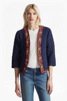 French Connection Parsi Cotton Embroidered Kimono Jacket