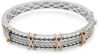 Effy 18K Yellow Gold Embossed Bangle Bracelet