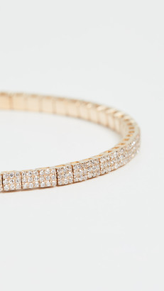 Shay 18k Pave Square Stretch Bracelet