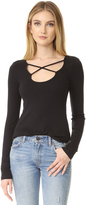 Splendid 1x1 Long Sleeve Reversible Top