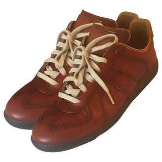 Maison Margiela Brown Leather Trainers