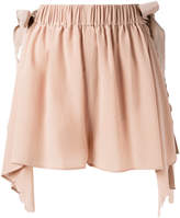 Fendi handkerchief hem scallopped shorts