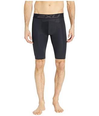 2XU Accelerate Compression Layering Shorts (Black/Silver) Men's Shorts