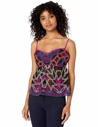 BCBGMAXAZRIA Women's Embroidered Empire Waist Top