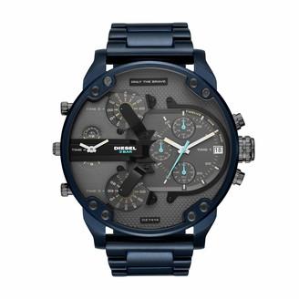 Diesel Men's Mr Daddy 2.0 Analog-Quartz Watch with Stainless-Steel-Plated Strap