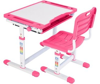 """Isabelle & MaxTM Cali Study 25.6"""" Writing Desk and Chair Set Isabelle & Max Color: Pink"""