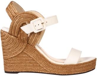 Jimmy Choo Delphi 100 Woven Wedge Sandals