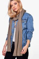 Boohoo Esme Supersoft Extra Long Knit Scarf