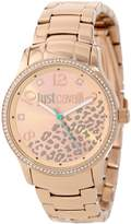 Just Cavalli Women's R7253127510 Huge Gold Stainless Steel Band Watch.