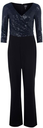 Adrianna Papell Sequin Top Jumpsuit