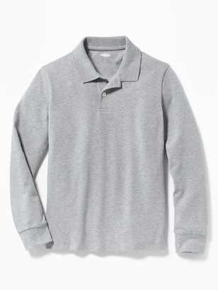 Old Navy Uniform Built-In Flex Long-Sleeve Pique Polo for Boys